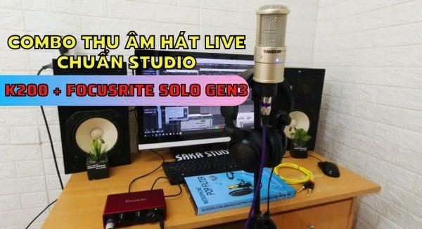 Giới thiệu bộ combo mic thu âm hát live âm thanh chuẩn studio focusrite solo gen 3