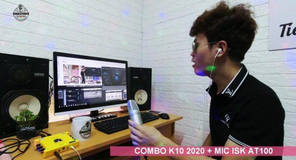 Sound card k10 2020 + mic at100 – hát với cubase 10 auto tune quá phê