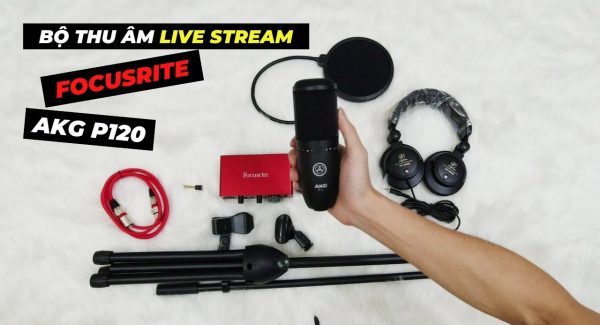Mua Bộ Thu Âm Livestream AKG P120 + FOCUSRITE Tại SAKA Bạn Sẽ Nhận Được Những Món Gì?