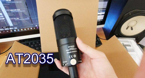 Đập Hộp micro thu âm chuyên nghiệp dùng cho home studio Audio Technica AT2035