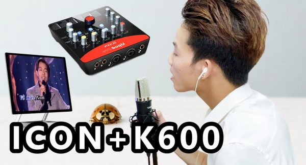 A Khách Test BOLERO HẢI NGOẠI Cùng Bộ Mic Hát Livestream ICON + K600 + AUTO-TUNE CUBASE